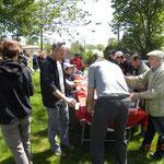 repas pour les randonneurs du Moulin de Roupeyrac