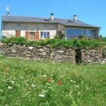 Aveyron La Maison d'hôtes coté sud au Favaldou
