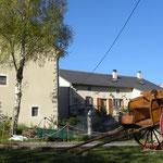 maison et grange de notre chambre d'hôtes coté sud