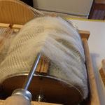 décrochage de la laine sur le rouleau