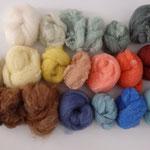 Nappes de laine cardée en rouleaux