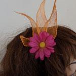 fleur en sisal sur serre tête ES03