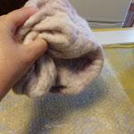 friction de la laine