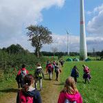 Ausflug zum Windpark von Courant d'AIR und nach Weismes
