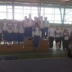Podium équipe pupilles: 1er Jeanne d'Arc de Dax 1, 2ème JADAX 2, 3ème Espoir Mugronnais