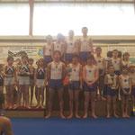 Podium équipe pupilles: 1er JAD 1, 2ème JAD 2, 3ème Ecureuils de Soustons