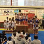 Podium Equipe Jeunes Poussins: 1er JADAX, 2ème UG ST PAUL, 3ème Ecureuils de Soustons