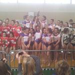 Podium Equipe Jeunesses: 1er Violette Aturine 1, 2ème Jauzika Hasparren, 3ème Espoir Mugronnais1