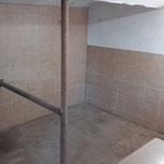 Putz-und Warmwasser Waschplatz
