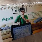 Tischkalender: Gestaltung mit Bildern und Texten