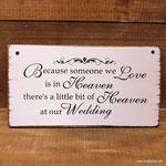 Schild Hochzeit Gedenken Verstorbene