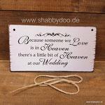 Verstorbene Hochzeitschild shabby vintage