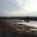 Landesgrenze: die neue Landschaftsgestaltung mit See, Tümpeln und Wasserflächen?