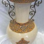 アールデコ調陶器製花瓶H42 W24 D24