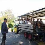 Traktorgespann mit Uwe Paulsen