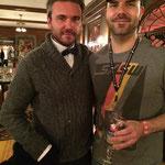 Tony with actor AJ Bowen