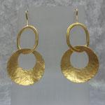Ohrhänger Messing Silber vergoldet