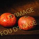 nature morte fruits 2 grenades étude éclairage peinture