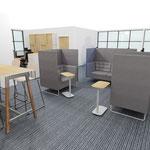 Espace réunion dans un open space