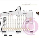Aménagement d'une salle de 85m² pour un IUT dans le 93