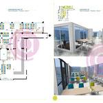 Simulation d'une salle de restauration de 400m² d'un centre médico-social