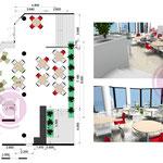 Etude d'une salle de restauration de 120m² d'un grand établissement d'enseignement public à Paris
