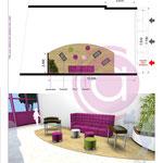 Création d'un espace détente d'un Centre commercial à Aulnay-sous-Bois (93)