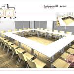 Aménagement de 2 salles de réunion modulables