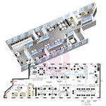 Phase d'avant-projet d'étude d'aménagement, de cloisonnement, de space planning d'un plateau vide de 300 m² pour 22 personnes à Ivry-sur-Seine