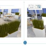 Etudes d'espaces café lounge et repas d'un grand groupe européen de services numériques