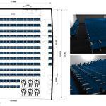 Aménagement d'un amphithéâtre de 160m² dans un lycée à Paris