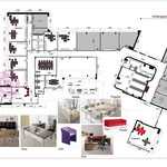 Etude d'aménagement 2D d'un plateau de 610m² à Paris (7e)