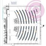 Etude colorimétrique d'un amphithéâtre de 150m²