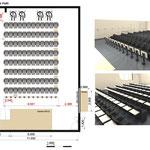 Aménagement d'une salle de 150m² pour un Ministère