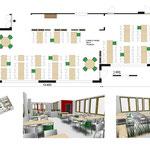 Etude d'un espace restauration d'une maison de retraite de 200m² dans le 77