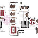Cloisonnement et aménagement de 2 étages sur 520 m² à Paris (8e)