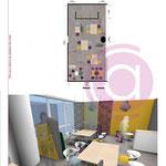 Simulation 2D et 3D d'un espace détente modulable de 55m²