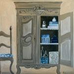 Armoire bleue 100x80