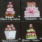 Cup cakes bruns 20x20x8