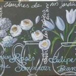 Fleurs et verre 100x50