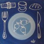 Dejeuner bleu 3x40x40