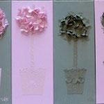 Pots toscans lin et rose