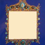 """Miroir """"oriental """"bleu 70x50"""