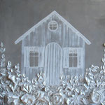 Cabane blanche 60x60