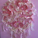 Bouquet rose rose 100x80