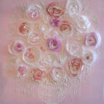 """Bouquet leger"" rose 100x100"