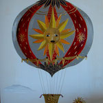 Montgolfiere rouge 80x100