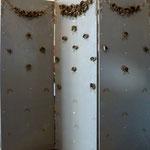 Lins et perles paravent 3x50x150