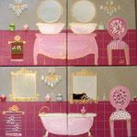 Bain rose fushia 4x30x30