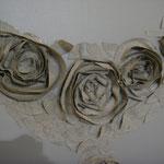 Détail roses de lin
